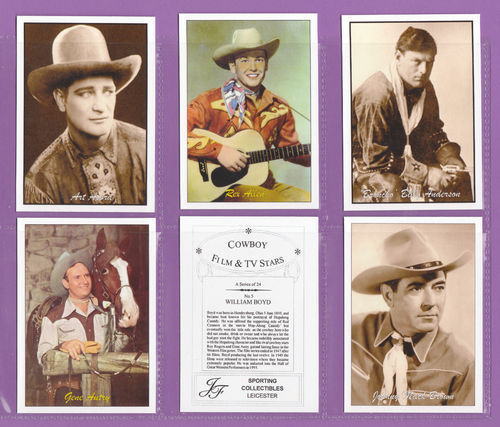 Jf Sporting Collectibles - Set Of Xl 24 Cowboy Film & Tv Stars