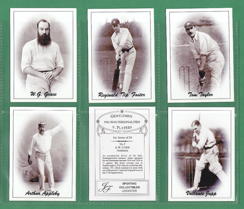 Jf Sporting Collectibles - Set Of Xl 24 Cricket's Gentlemen V Players 1st - 2003