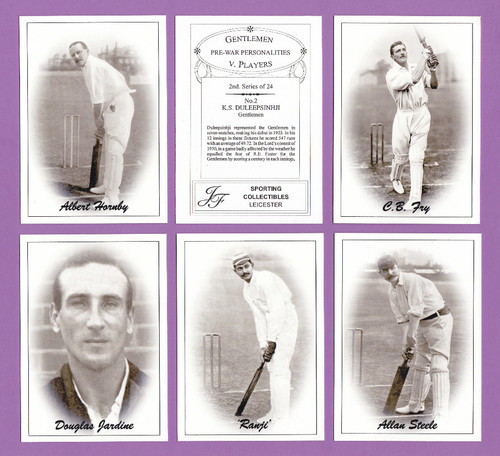 Jf Sporting Collectibles - Set Of Xl 24 Cricket's Gentlemen V Players 2nd - 2004