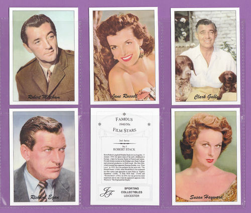 Jf Sporting Collectibles - Set Of Xl 24 Famous Film Stars 1940/50s 2nd Series