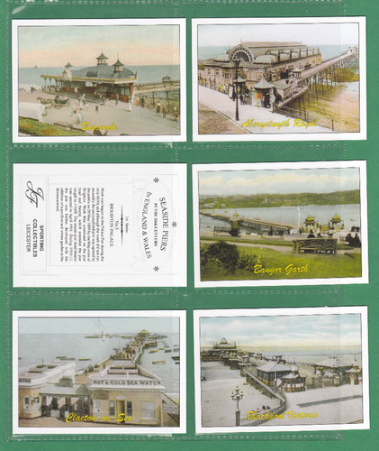 Jf Sporting Collectibles - Set Of Xl 24 Seaside Piers In England & Wales 1st