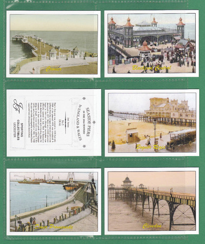Jf Sporting Collectibles - Set Of Xl 24 Seaside Piers In England & Wales 2nd