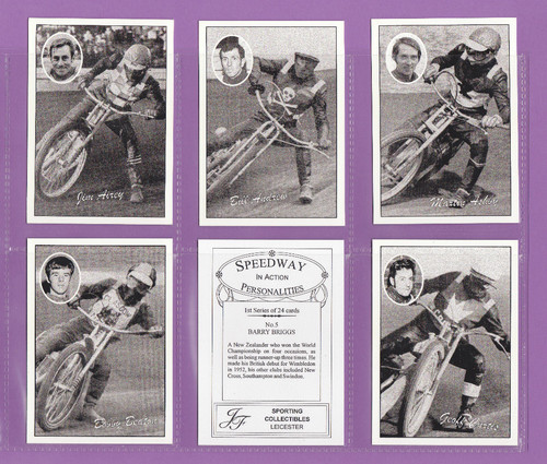 Jf Sporting Collectibles - Set Of Xl 24 Speedway In Action Cards 1st - 2000