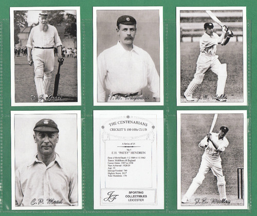 Jf Sporting Collectibles - Set Of Xl 25 Cricket's 100 100s Club ( Centenarians )