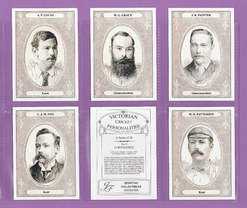 Jf Sporting Collectibles - Set Of Xl 28 Victorian Cricket Personalities - 2000