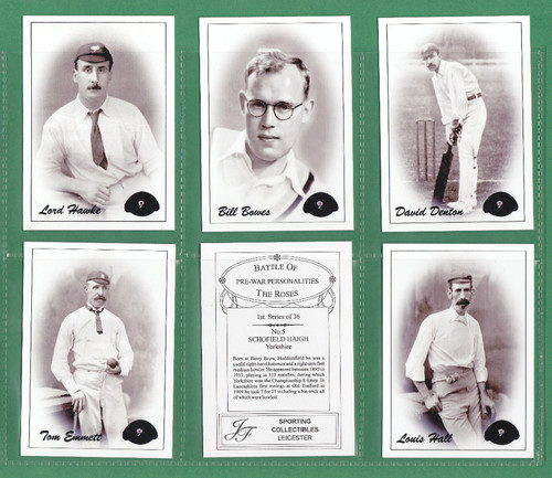 Jf Sporting Collectibles - Set Of Xl 36 Cricket's Battle Of The Roses - 2003