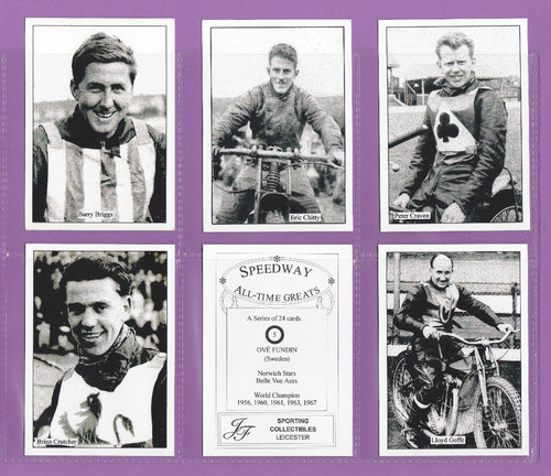 Jf Sporting Collectibles - Set Of Xl Speedway All-time Greats Cards 1st - 1999