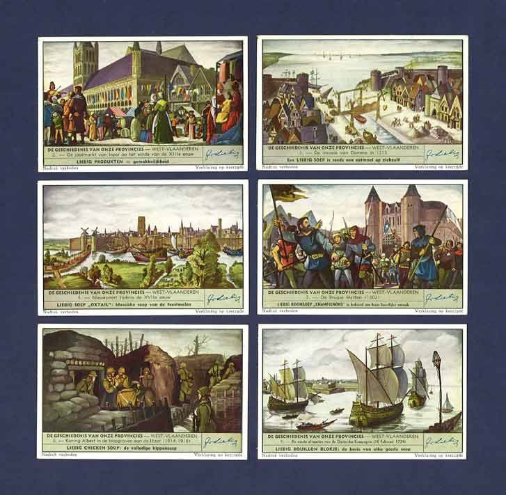 Liebig - Set Of X 6 - S 1523 / F 1516 - The History Of Our Provinces - West Flanders - 1951