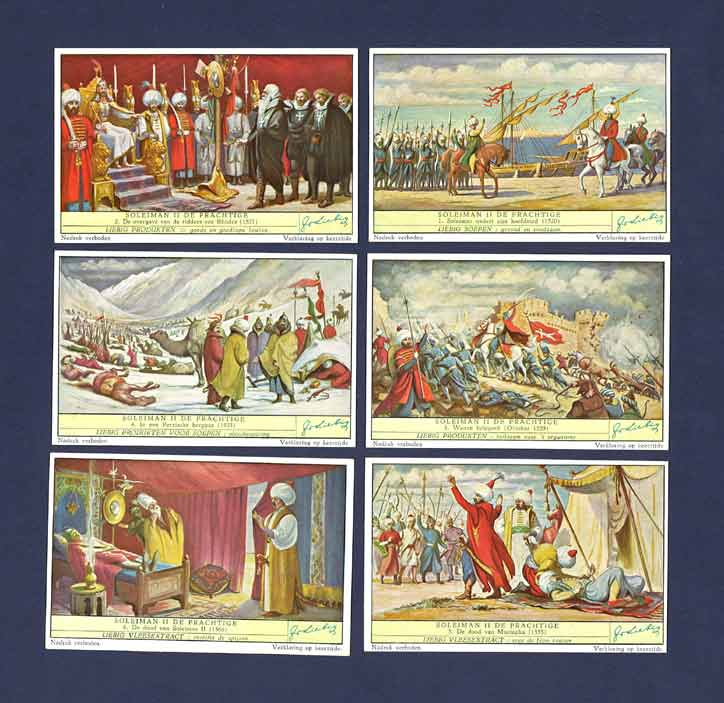 Liebig - Set Of X 6 - S 1576 / F 1575 - Suliman The Magnificent - 1953