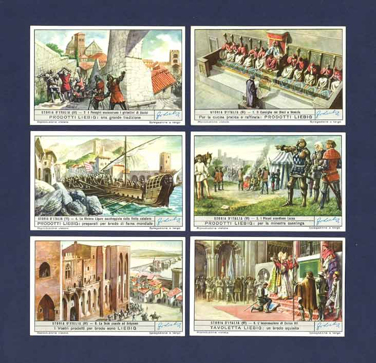 Liebig - Set Of X 6 - S 1607 / F 1604 - The History Of Italy Vi - 1954