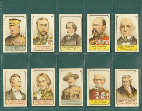 Nostalgia Classics - Set Of 10 - H. Chappel & Co. ' British Celebrities ' Cards