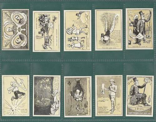Nostalgia Classics - Set Of 20 - Bradford ' Boer War Cartoons ' Cards