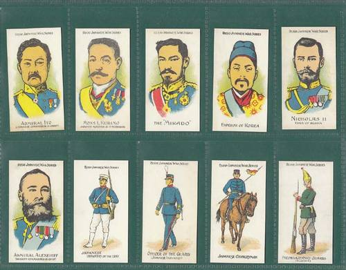 Nostalgia Classics - Set Of 20 - Phillips ' Russo Japanese War Series ' Cards