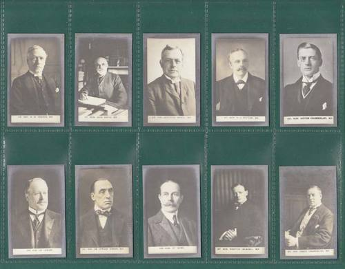 Nostalgia Classics - Set Of 22 - Henry Welfare ' Prominent Politicians ' Cards