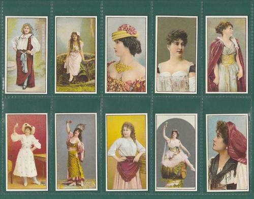 Nostalgia Classics - Set Of 25 - Faulkner ' Beauties ( Coloured ) ' Cards