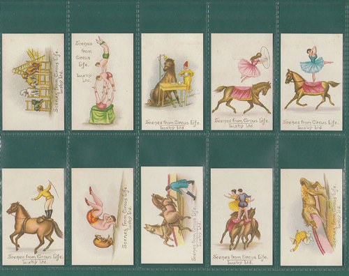 Nostalgia classics - set of 25 - lusby ' scenes from circus life ' cards