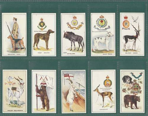Nostalgia Classics - Set Of 25 - Robinson ' Regimental Mascots ' Cards