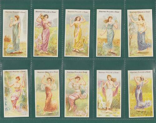 Nostalgia Classics - Set Of 30 - Godfrey Phillips ' Beauties, Nymphs ' Cards