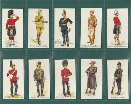Nostalgia Classics - Set Of 40 - Orlando ' Home & Colonial Regiments ' Cards