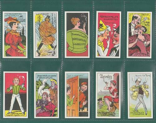 Nostalgia Classics - Set Of 50 - Kriegsfeld ' Phrases & Advertisements ' Cards