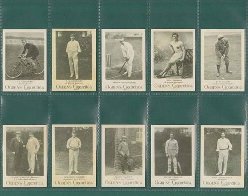 Nostalgia Classics - Set Of 50 - Ogdens ' Cricketers & Sportsmen ' Cards