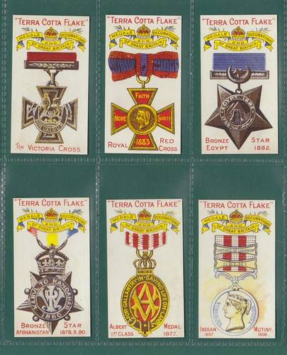 Nostalgia Classics - Set Of 6 - Robinson ' Medals & Decorations ' Cards