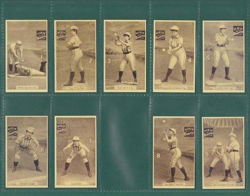 Nostalgia Classics - Set Of 9 - Allen & Ginter ' Women Baseball Players ' Cards
