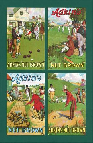 Nostalgia Classics - Set Of P 4 - Adkin & Sons ' Games By Tom Browne ' Cards