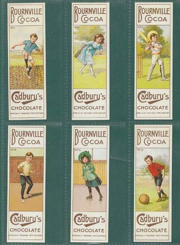 Nostalgia Classics - Set Of T 6 - Cadbury Bros. Ltd. ' Sports Series ' Cards