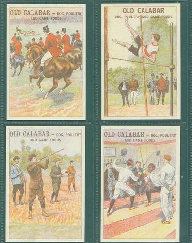 Nostalgia Classics - Set Of 16 Extra Large - Old Calabar ' Sports & Games ' Cards