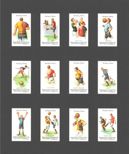 Nostalgia Reprints - Set Of 12 - Faulkner ' Football Terms 1st Series ' Cards