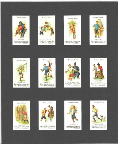 Nostalgia Reprints - Set Of 12 - Faulkner ' Football Terms 2nd Series ' Cards