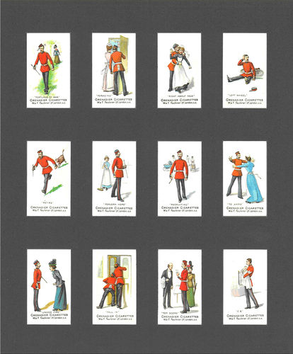 Nostalgia Reprints - Set Of 12 - Faulkner ' Military Terms 2nd Series ' Cards