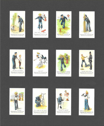 Nostalgia Reprints - Set Of 12 - Faulkner ' Nautical Terms 1st Series ' Cards