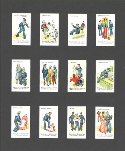 Nostalgia Reprints - Set Of 12 - Faulkner ' Nautical Terms 2nd Series ' Cards