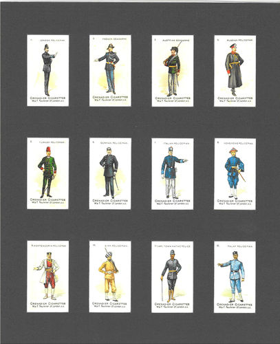 Nostalgia Reprints - Set Of 12 - Faulkner ' Policemen Of The World ' Cards