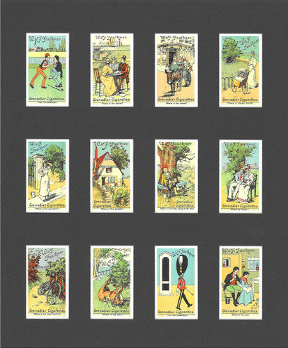Nostalgia Reprints - Set Of 12 - Faulkner ' Puzzle Series ' Cards