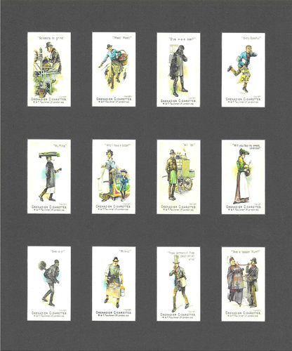 Nostalgia Reprints - Set Of 12 - Faulkner ' Street Cries ' Cards