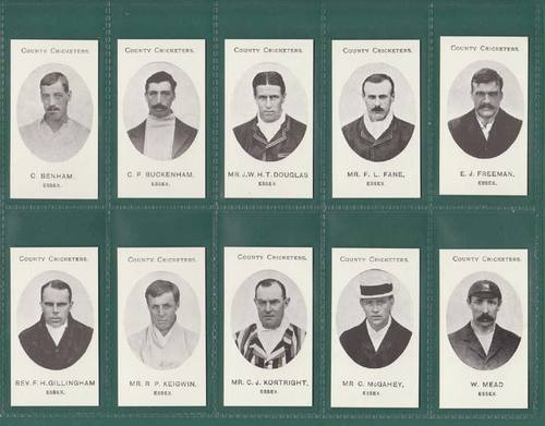 Nostalgia Reprints - Set Of 15 - Taddy ' County Cricketers - Essex ' Cards