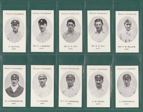 Nostalgia Reprints - Set Of 15 - Taddy ' County Cricketers - Kent ' Cards
