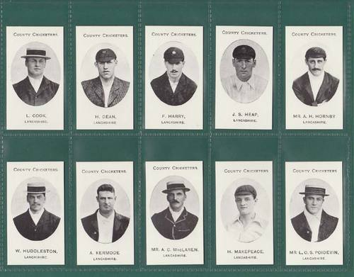 Nostalgia Reprints - Set Of 15 - Taddy ' County Cricketers - Lancashire ' Cards
