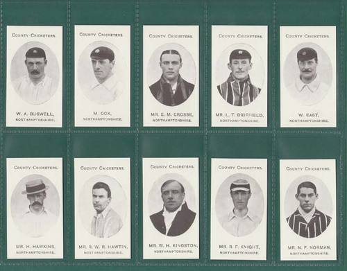 Nostalgia Reprints - Set Of 15 - Taddy ' County Cricketers - Northamptonshire '