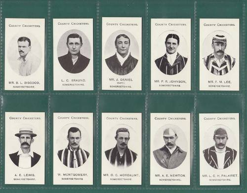 Nostalgia Reprints - Set Of 15 - Taddy ' County Cricketers - Somersetshire '