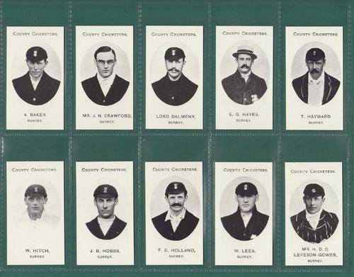 Nostalgia Reprints - Set Of 15 - Taddy ' County Cricketers - Sussex ' Cards