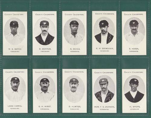 Nostalgia Reprints - Set Of 15 - Taddy ' County Cricketers - Yorkshire ' Cards