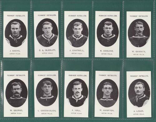 Nostalgia Reprints - Set Of 15 - Taddy ' Footballers - Aston Villa ' Cards