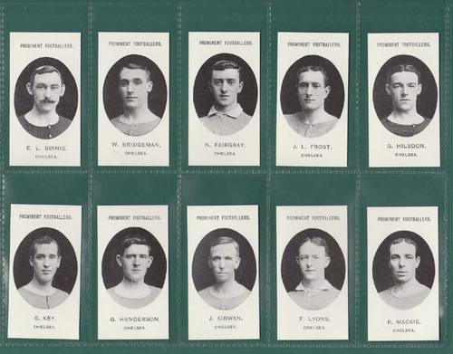 Nostalgia Reprints - Set Of 15 - Taddy ' Footballers - Chelsea ' Cards