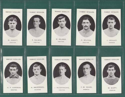Nostalgia Reprints - Set Of 15 - Taddy ' Footballers - Everton ' Cards
