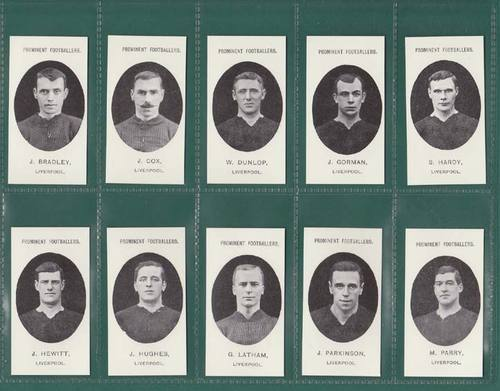 Nostalgia Reprints - Set Of 15 - Taddy ' Footballers - Liverpool ' Cards