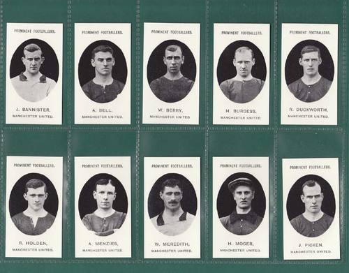 Nostalgia Reprints - Set Of 15 - Taddy ' Footballers - Manchester Utd. ' Cards